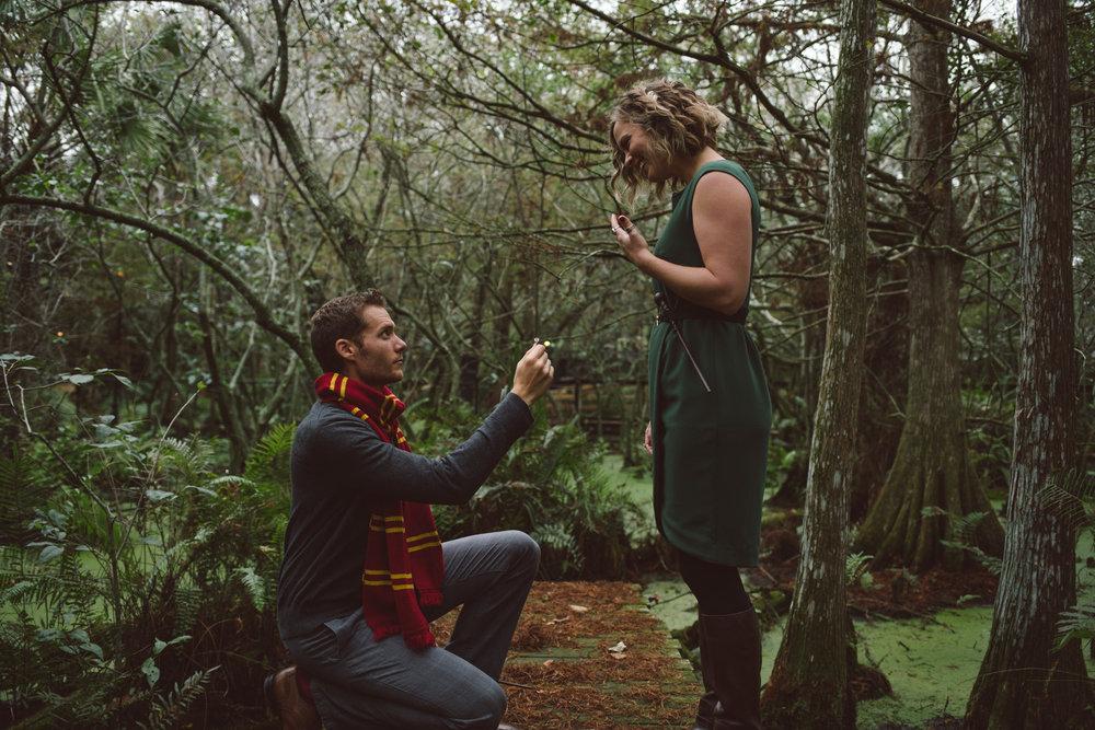 Harry Potter Engagement Session