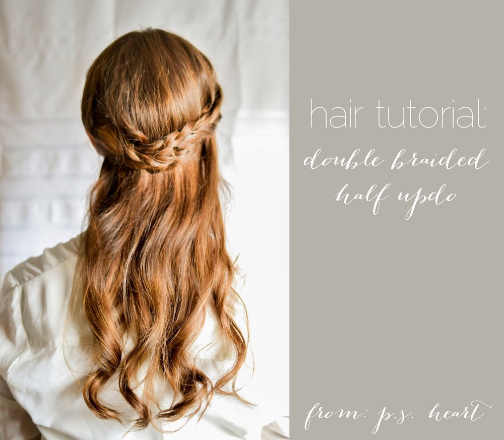 Hair Tutorial Double Braided Half Updo The Farmers Daughter