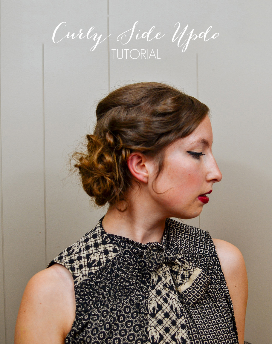 Hair Tutorial Curly Side Updo The Farmers Daughter