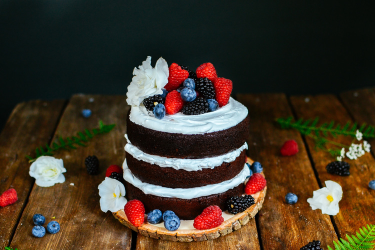 3 tier naked chocolate cake the farmers daughter