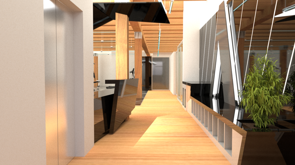 Entry & Reception Concept, view towards Locker Room