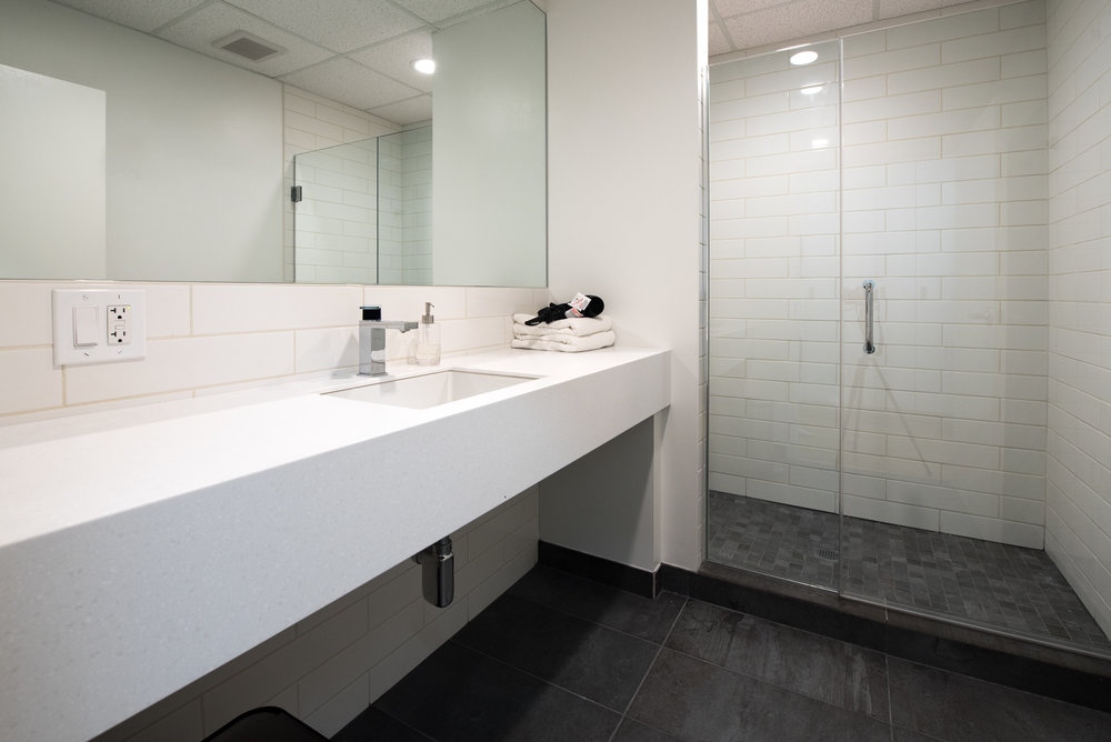 Private Shower & Changing Room