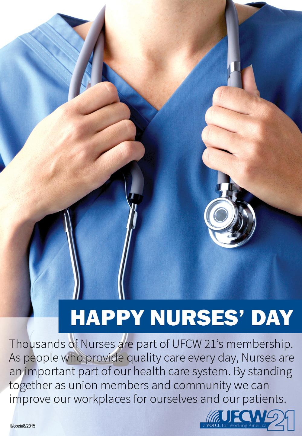 Happy Nurses' Day — UFCW 21