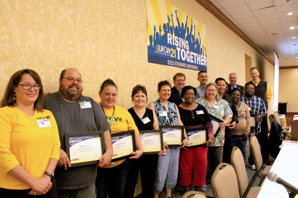 Rising Together Award. The MultiCare Bargaining Team helped lead an historic negotiation, winning the right for all MultiCare workers to have a fair process to join the union, improved wages, protection for retirement and health care, and much more.