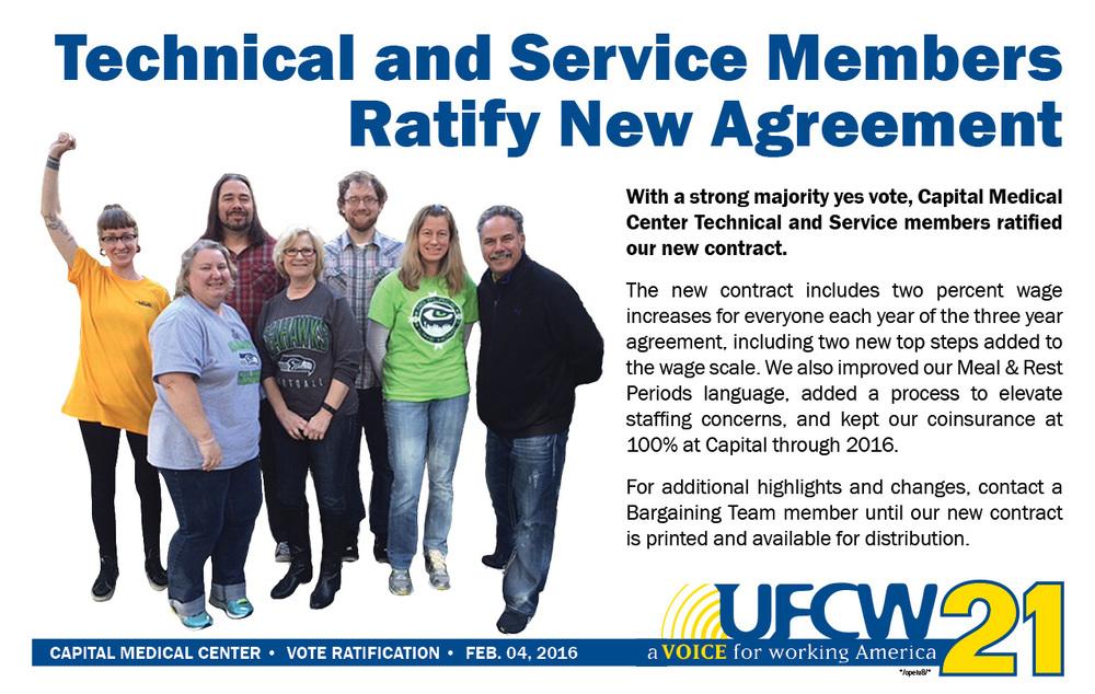 Capital Medical Center Ratifies New Contract Ufcw 21