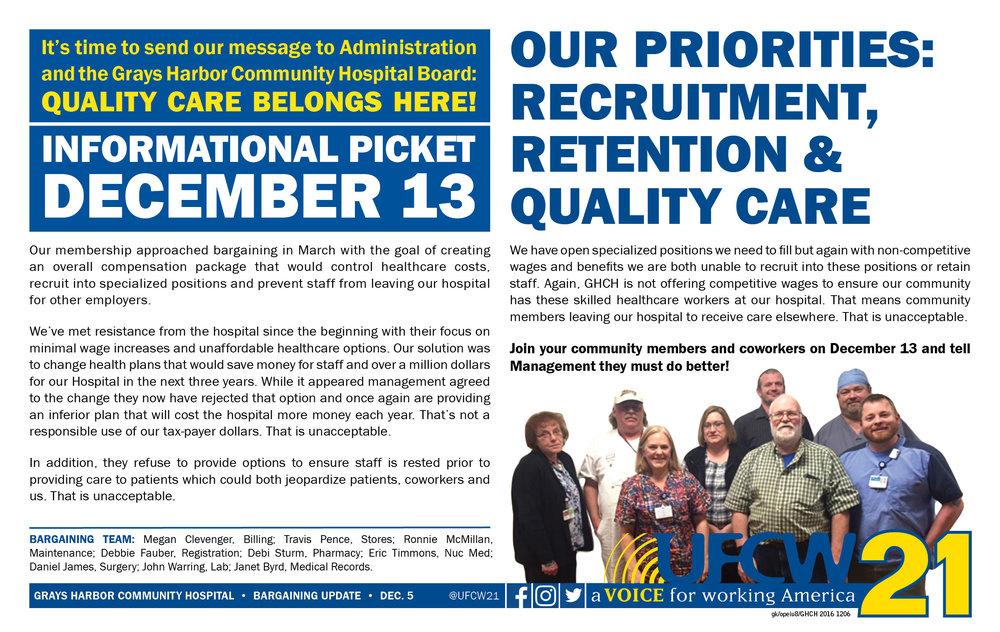 Grays Harbor Community Hospital Informational Picket — UFCW 21