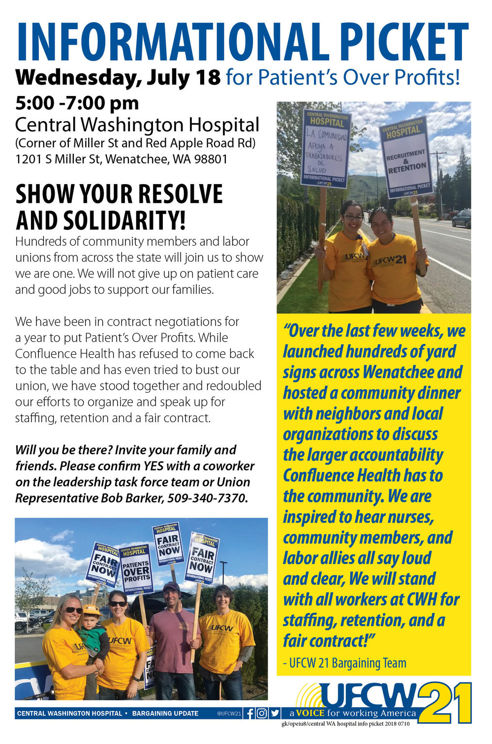 2018 0710 Central Washington hospital Info picket.jpg