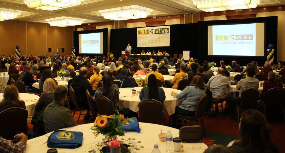 Nearly 300 workplace Leaders joined together for the conference.