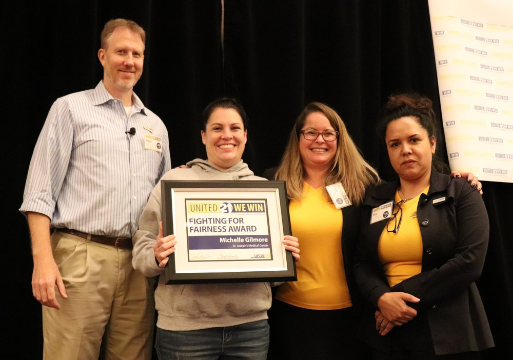 Fighting for Fairness Award winner Michelle Gimmore from St. Joseph's Medical Center