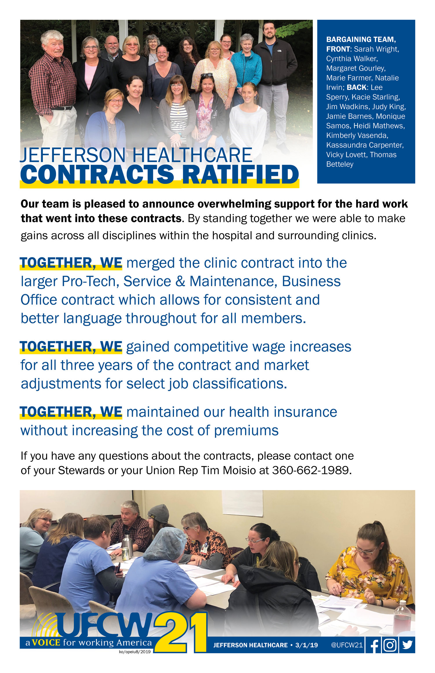Jefferson Healthcare Contracts Ratified Ufcw 21
