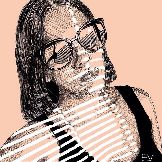 eatsleepdraw :    Self portrait     Tumblr: @ellivivr