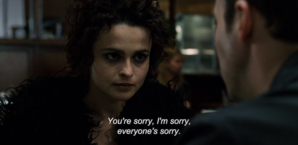 "anamorphosis-and-isolate :     ― Fight Club (1999)  ""You're sorry, I'm sorry, everyone's sorry."""
