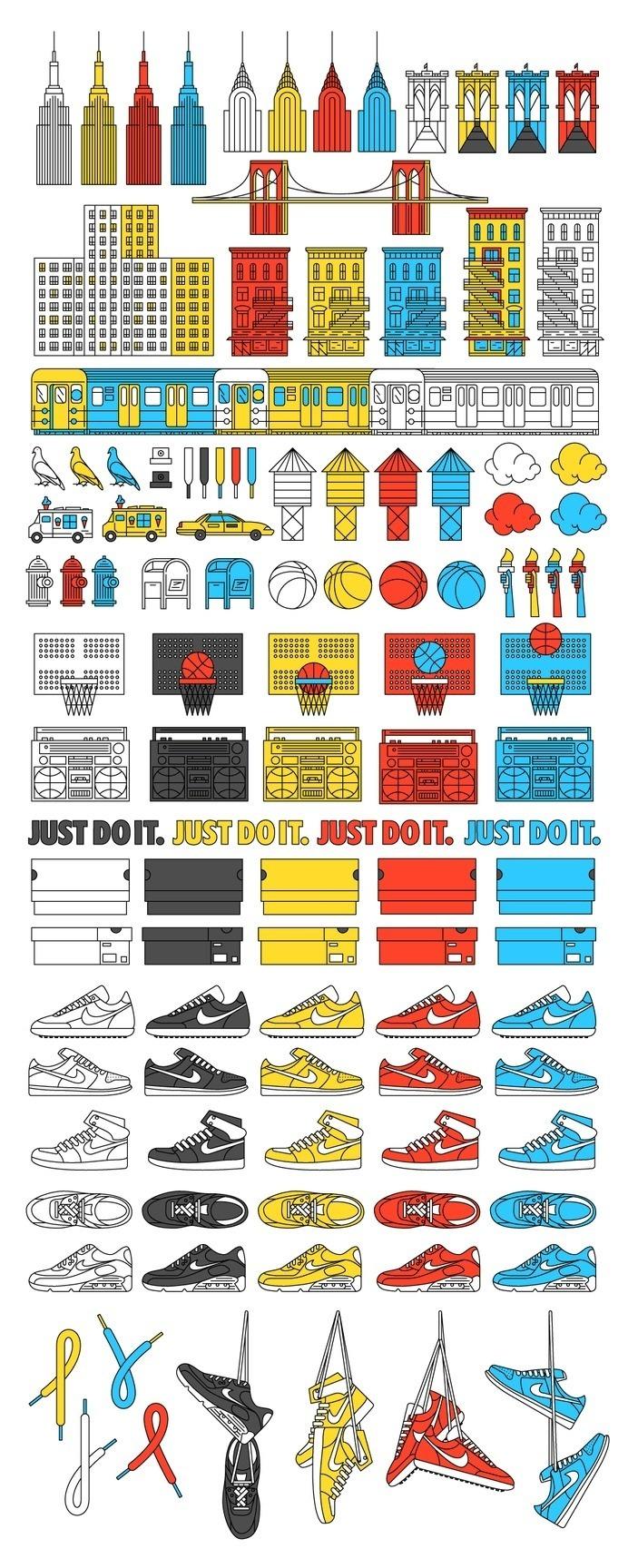 Forma & Co — Nike — Pattern  #nike   #illustration