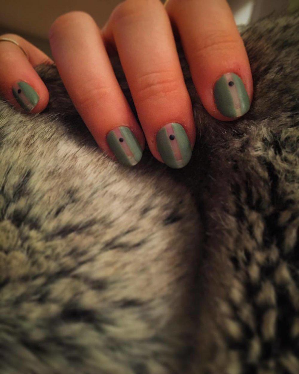……….🔒🔙🔛🔝🔒……….    #matte #olive #nails #swag