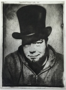 Portrait by  Greg Banks  Copper Plate Photogravure