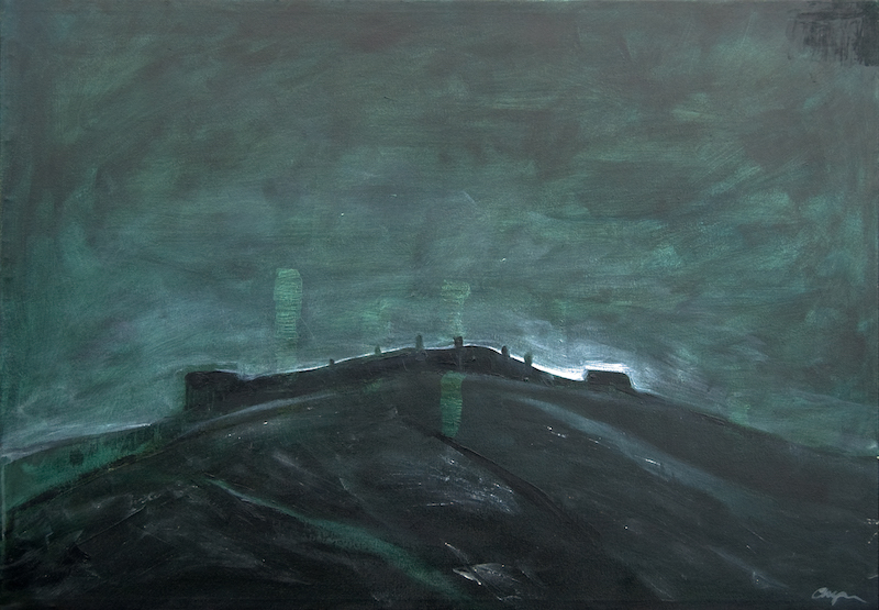 'Military Fort' 100cm x 80cm mixed media on canvas €695
