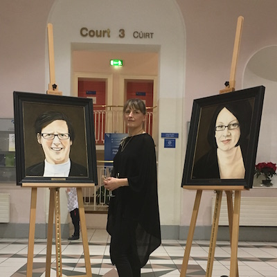 Kildare Solicitors Bar Association - Dec 2018Commissioned Portraits.To be hung in Naas Courthouse, Co. Kildare. Unveiled in the presence of family, friends and colleagues.Judge Grainne O'Neill 1971-2018Ann Nolan,Solicitor 1970 – 2014