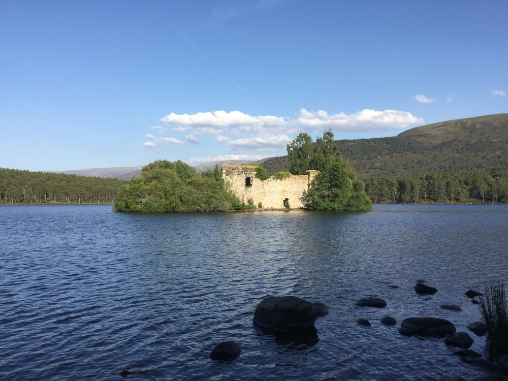 Loch An Eilein Castle, just outside of Aviemore, Scotland
