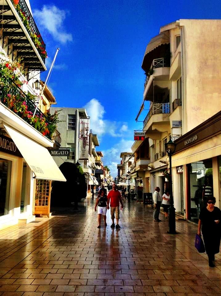 The streets in Keftalonia