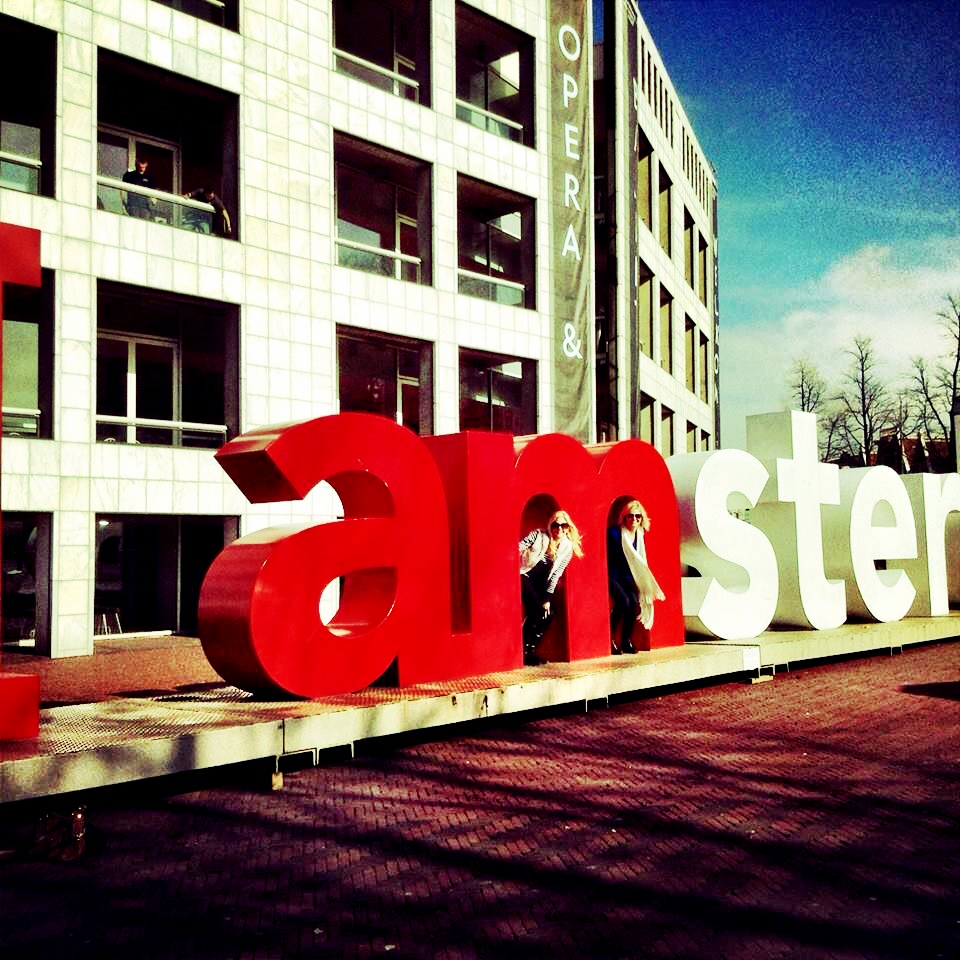 "The classic ""I AMSTERDAM"" photo op"