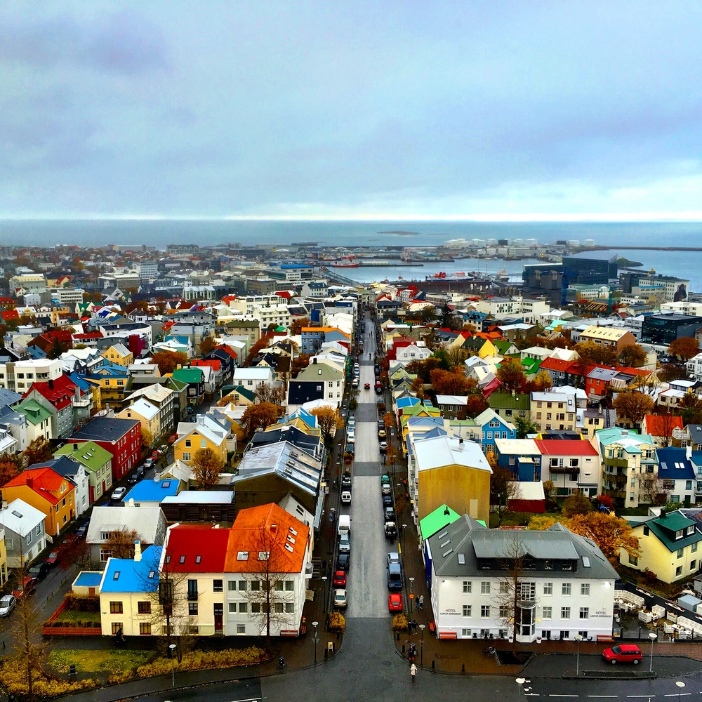 View from the top of Hallgrimskirkja Church