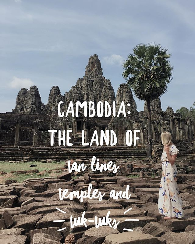 Cambodia: The land of tan lines, temples and tuk tuks 🗺🏝🧘‍♀️ Now on the blog! #cambodia #angkorwat #siemreap #travelcambodia #southeastasia #travellingthroughtheworld