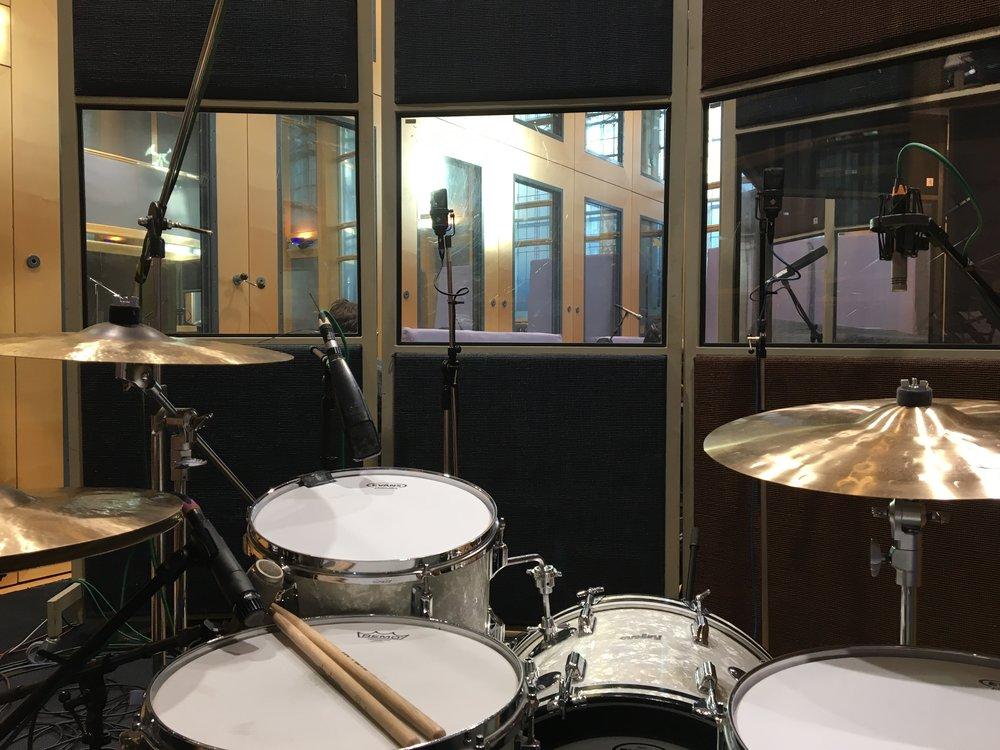 Air Studio 1 recording Patchwork Jazz Orchestra's debut album