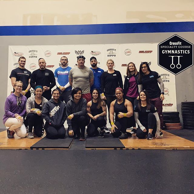 | CFG COURSE 2019 | . Led by @estradaflys  Ready for Day 2 of @cfgymnastics with this amazing crew! Thanks for hosting @thecrossfithippo! #cfgymnastics #cfgcourse #cfgcoach #crossfit