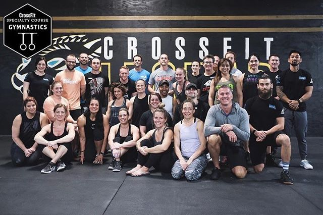 | CFG COURSE 2019 | . Led by @soulsean  CrossFit Specialty Course Gymnastics at @crossfitjaguar in Tampa, Florida! Peep the second photo to see me throw @just.like.frank 😂 #CrossFit ⠀ @crossfit @crossfittraining @cfgymnastics #CFGymnastics