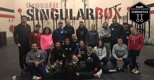 | CFG COURSE 2019 | . Led by @coach_birdy  CrossFit Gymnastics from Madrid, Spain 🇪🇸 An awesome weekend coaching these guys on the the virtuosity of gymnastics movements in CrossFit.  Thanks @crossfitsingularboxoficial for hosting us again!  #crossfit #crossfitgymnastics #crossfittraining #gymnastics #cfgymnastics #cfgcoach #spain #madrid