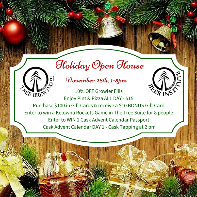 Pizza Open On Christmas.Christmas Open House Tree Brewing Beer Institute