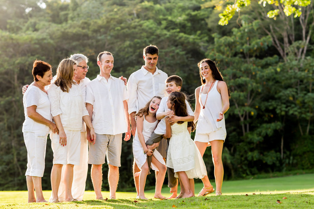 Family group during vacations in Costa Rica