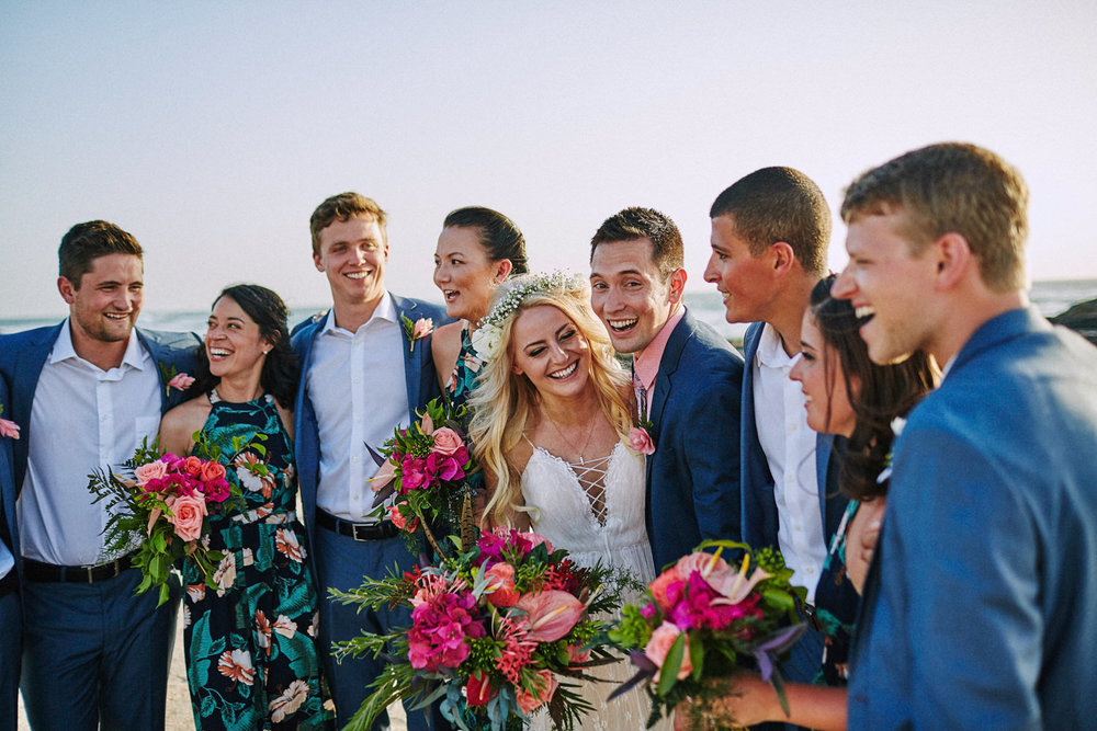 Wedding party at Cala Luna point, Tamarindo