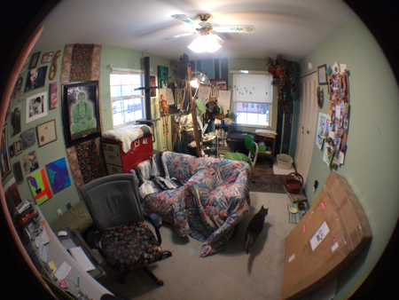 The studio with the wide-angle lens. Now you can really get a feel for how nuts it had become.