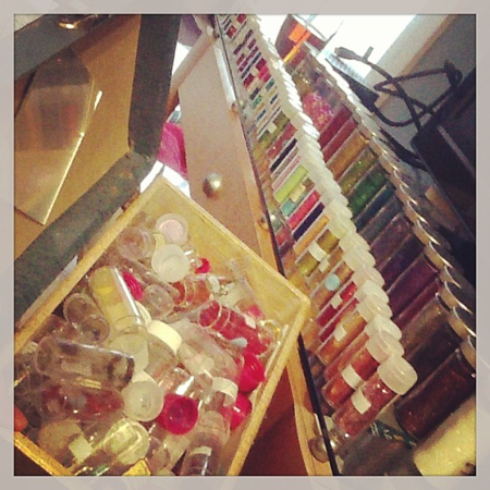 Amongst my materials, I had acquired a small collection of glitter…yes, I need help.