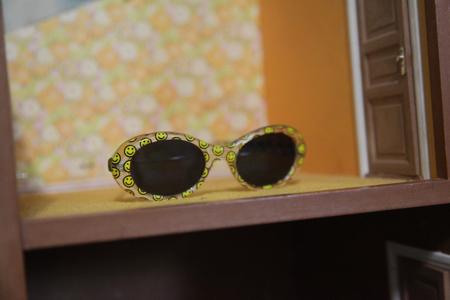 I thought these glasses I found looked adorable in the room! Gotta get them to Ellie!