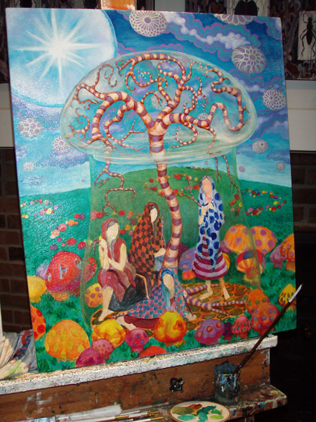 Been focused on making the tree come together. Starting work on the mushrooms soon.