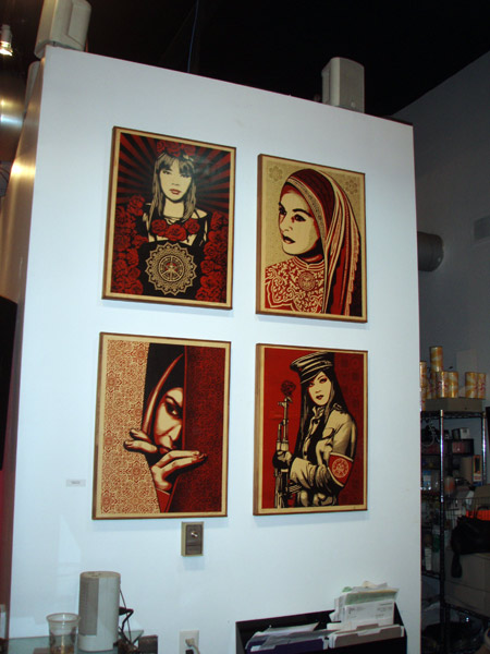 Amazing prints by Shepard Fairey.