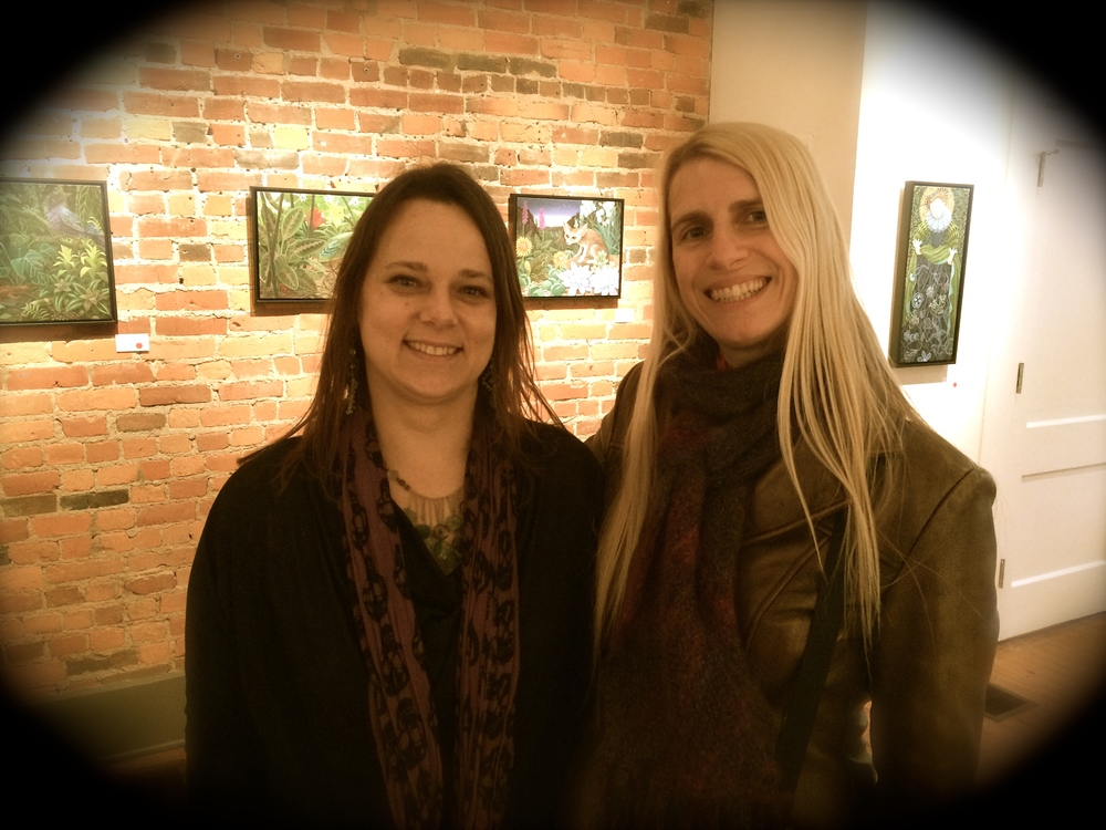 With Laine Bachman at her Sherrie Gallerie opening, January 11, 2015.