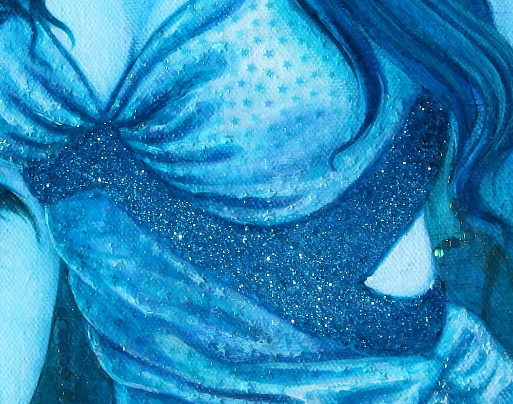 Detail of dress.