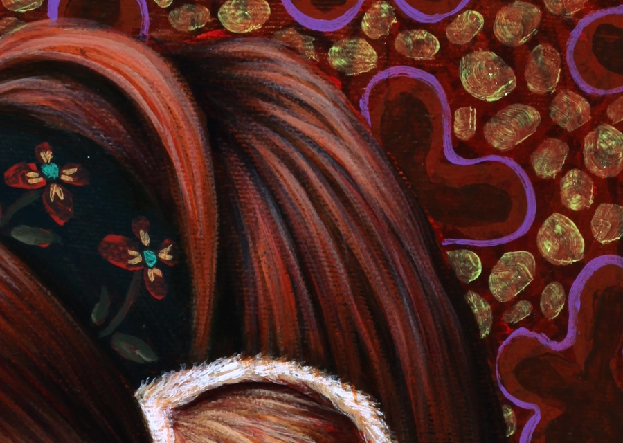 Detail of hair and background.