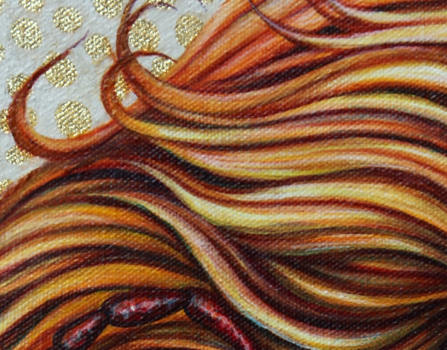 Detail in hair.