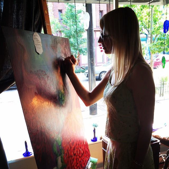 Live painting at Clash in the Oregon District.