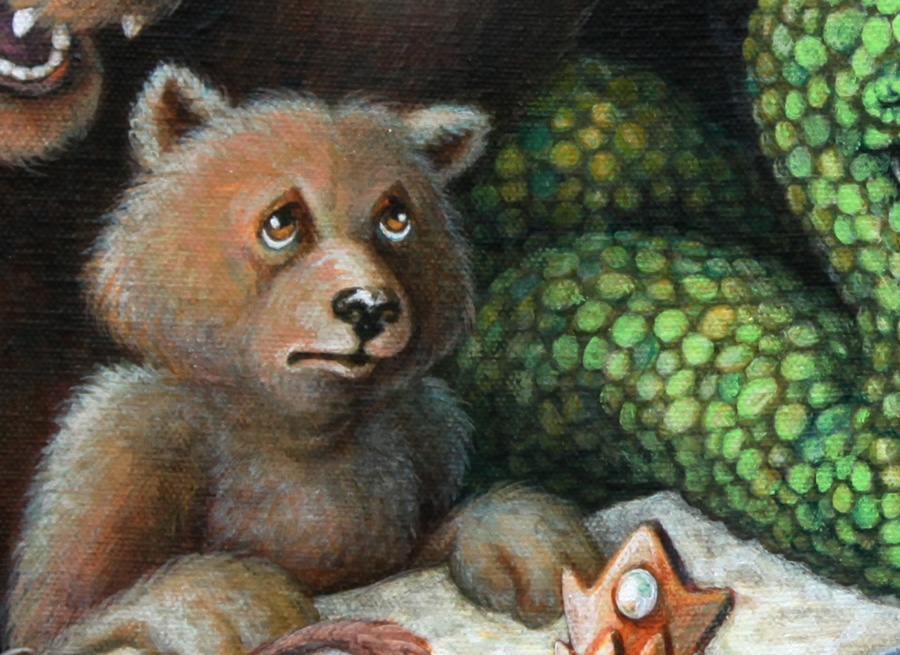 Detail of Baby Bear.