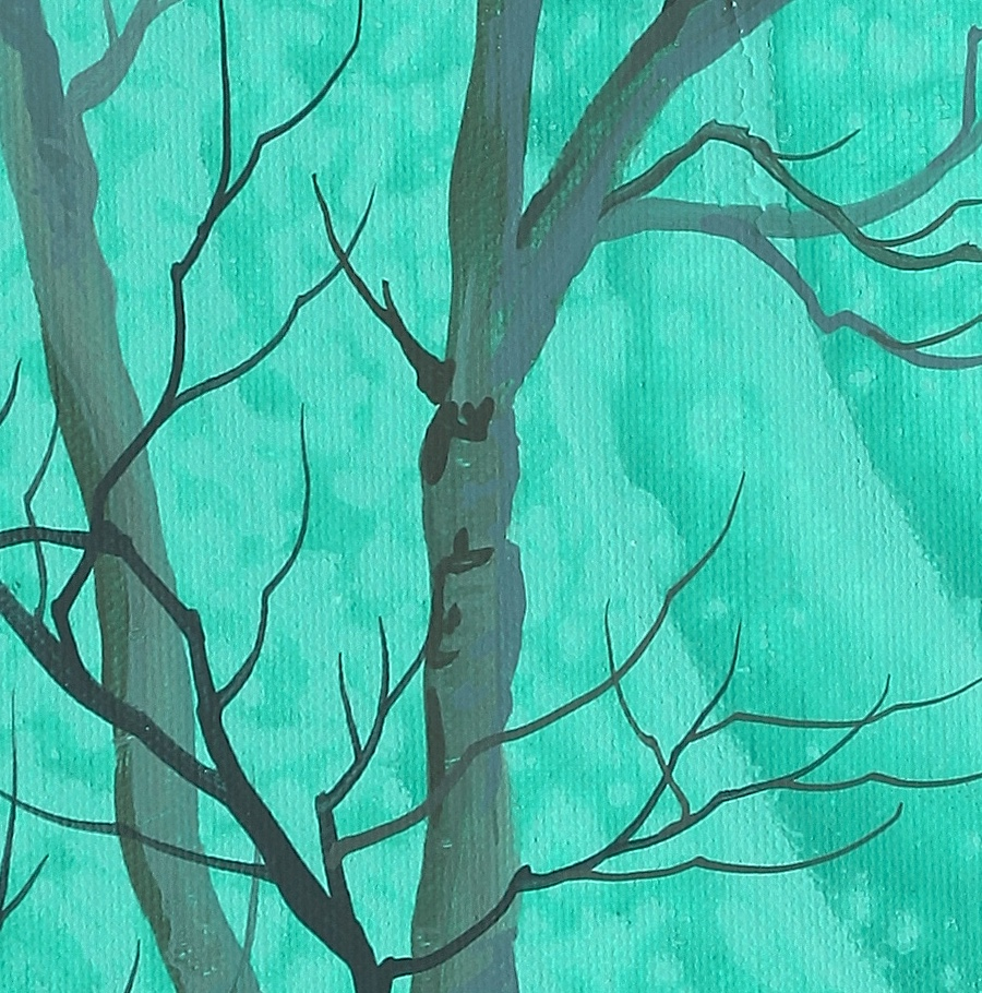 Detail of Robert Walker's trees.