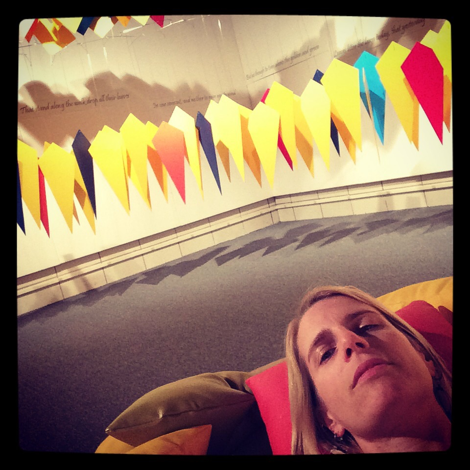 Chillin' on and within the installation by Terry Welker, #theconsent.