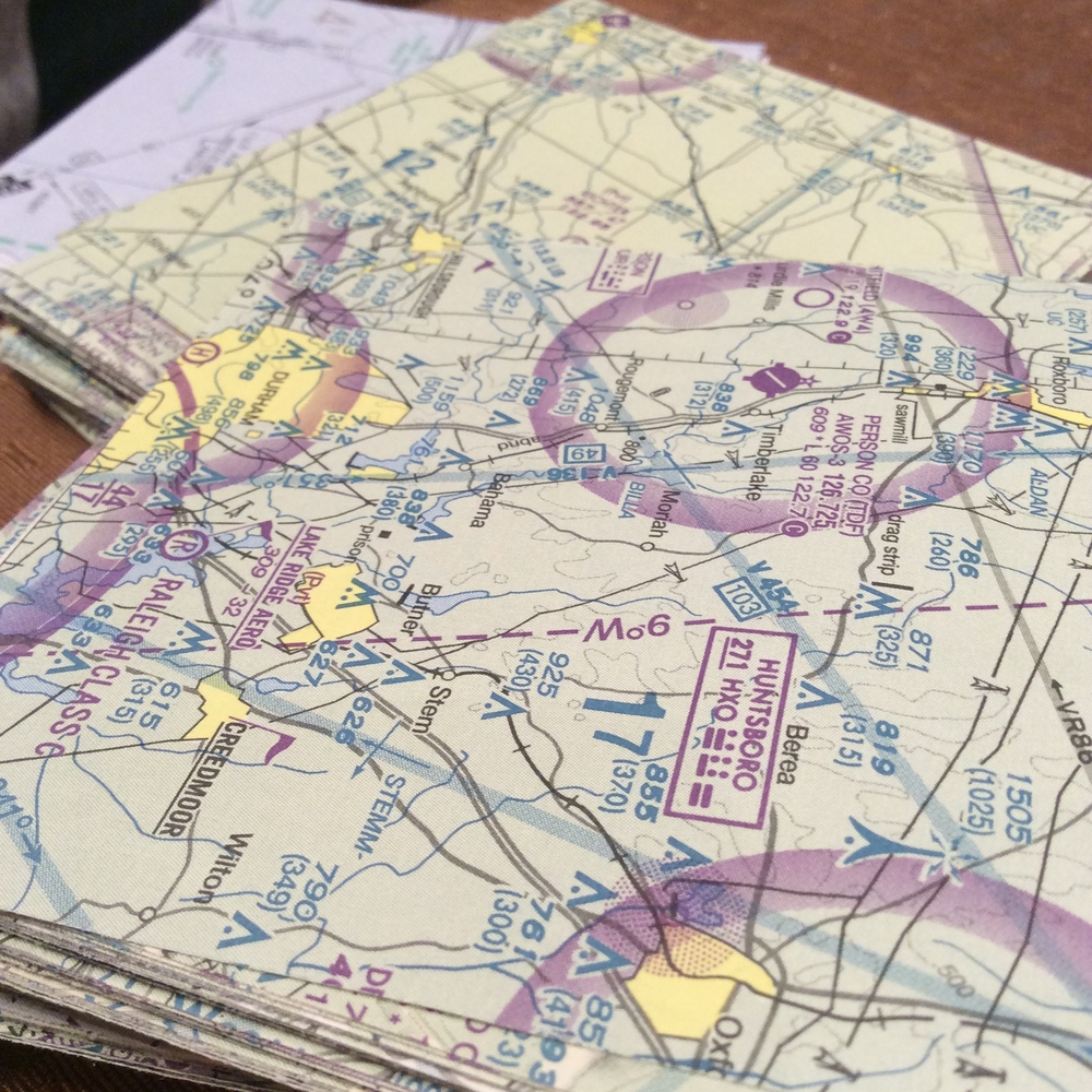 A close-up of the maps.