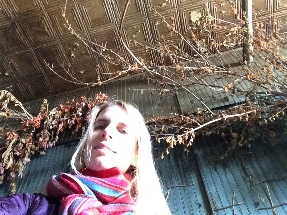 Selfie with a tin ceiling!