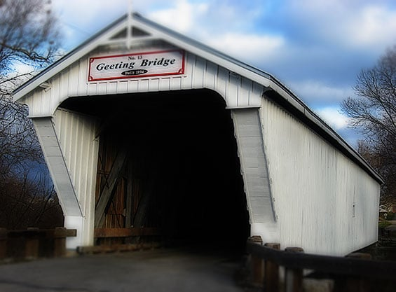 Inspiration for shelter. A bridge located in Preble County.