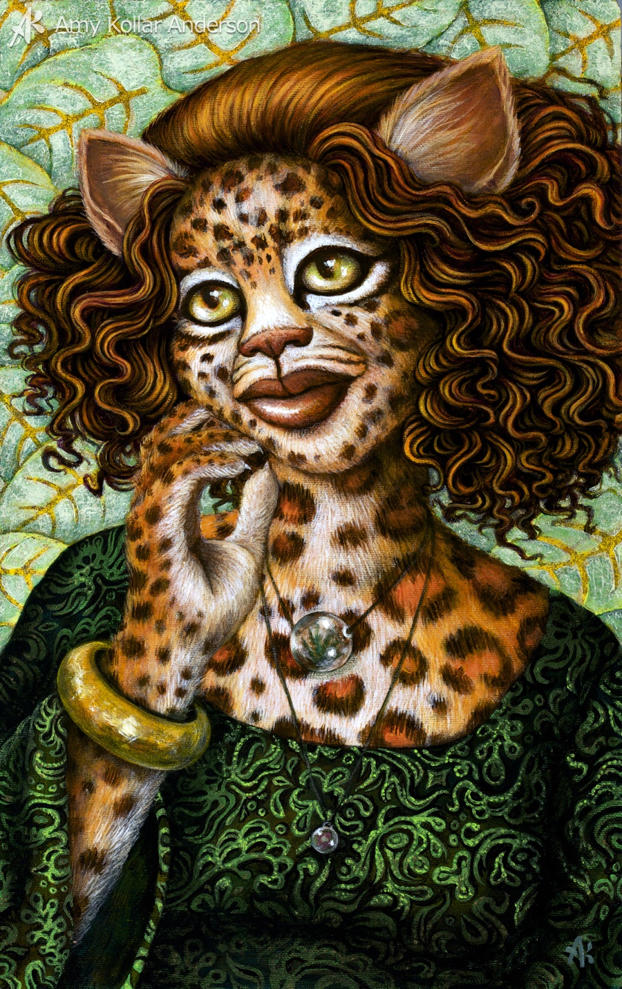 Ixchel, a painting from 2010, before I knew of her Isla Mujeres connection.